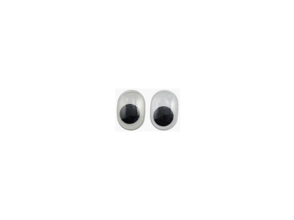 Pohyblivé oči oválné 20x15 mm, 10 ks