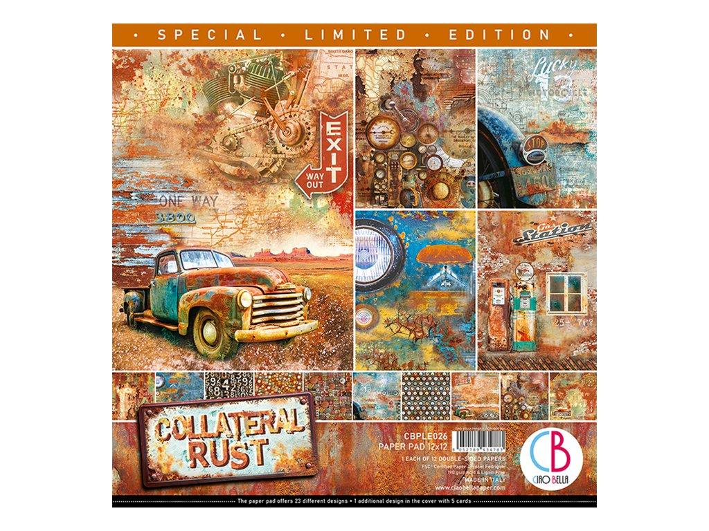 Limitovaná edice oboustranných papírů Collateral Rust 30x30cm
