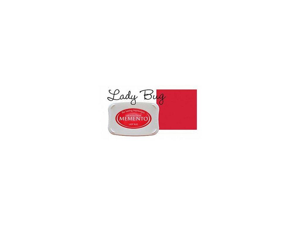 Razítkovací polštářek Memento červený velký
