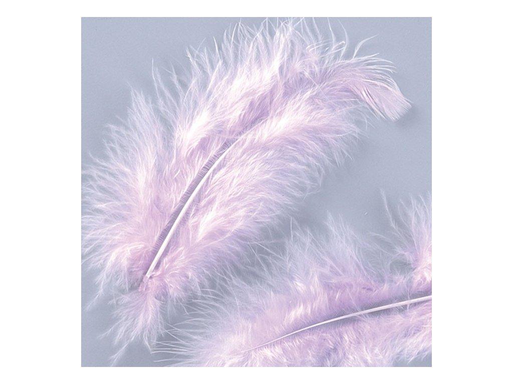 Peříčka Marabu lila