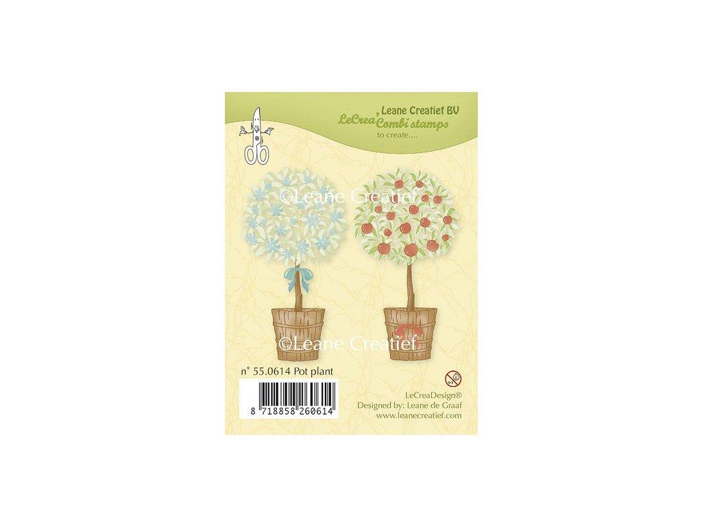 Razítko gelové silikonové Stromky v květináči