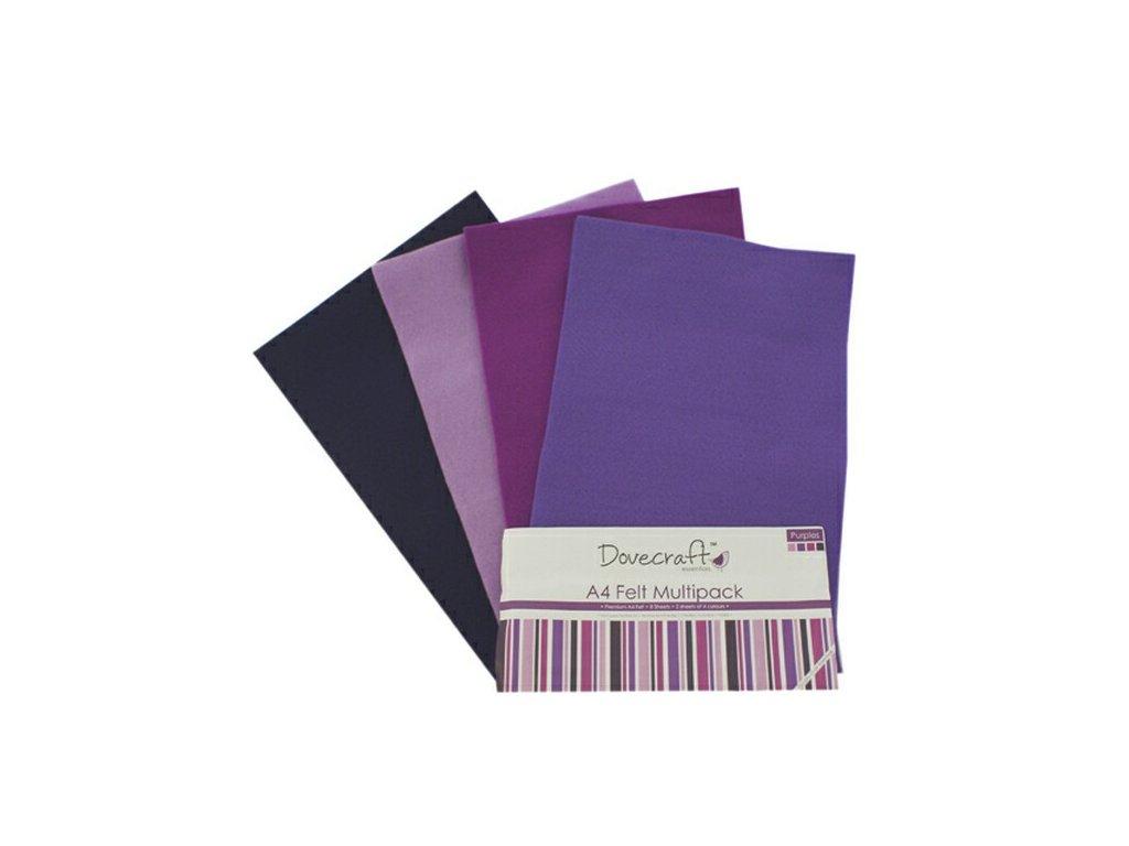 Sada filců - fialová