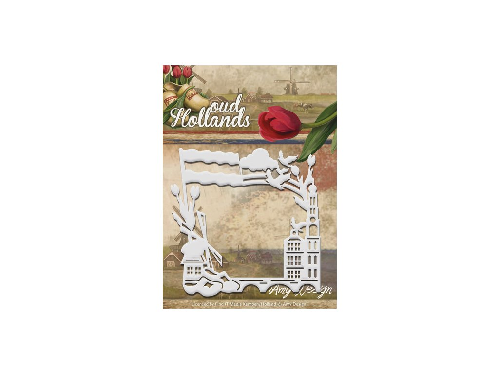 Šablona kovová vyřezávací Rámeček Holandsko
