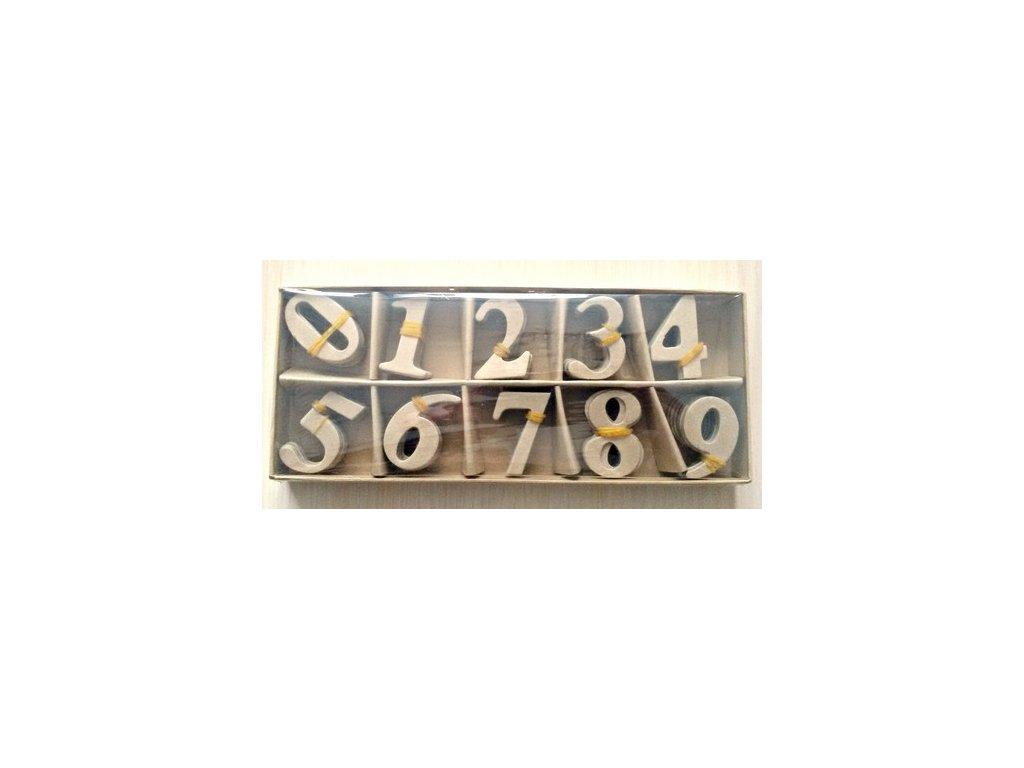 Kartonové číslice 0-9
