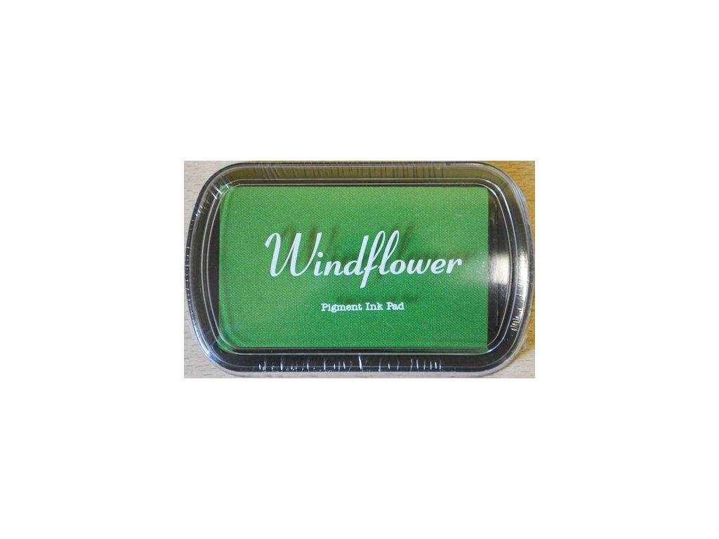 Razítkovací polštářek Windflower světle zelený