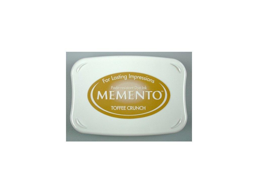 Razítkovací polštářek Memento karamelově hnědý velký
