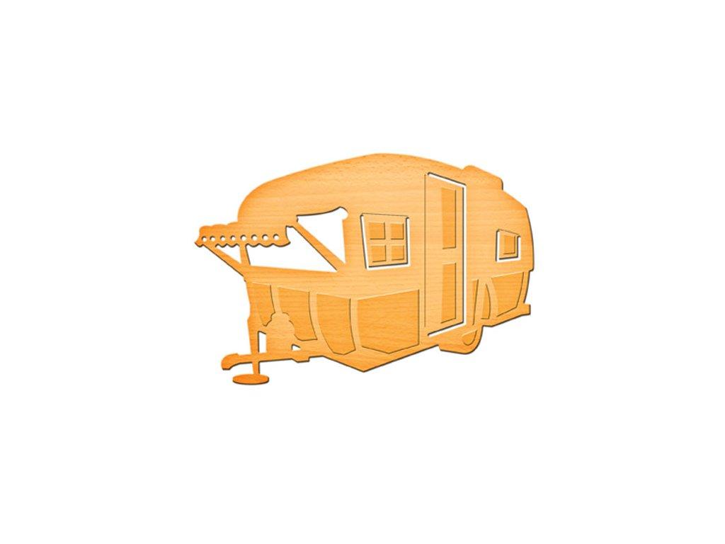 Šablona kovová vyřezávací Karavan