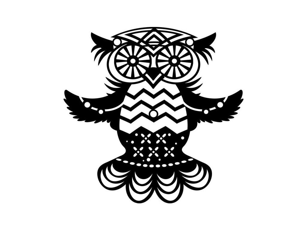 Šablona 15x15 Letící sova