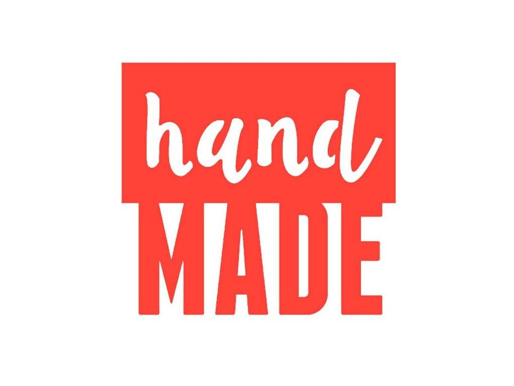 Vyřezávací kovová šablona text Hand MADE