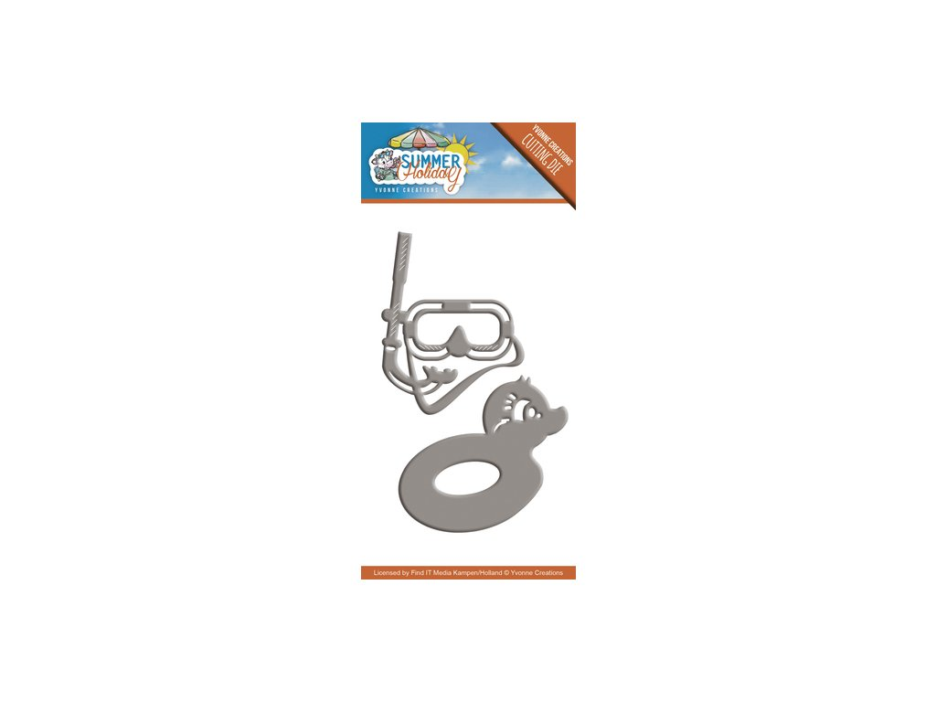 Šablona kovová vyřezávací Potápěčské brýle a kruh