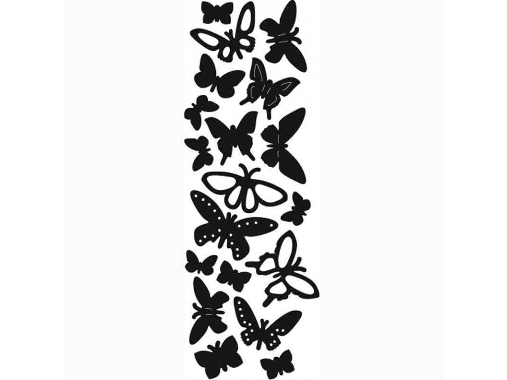 Vyřezávací kovová šablona Motýli