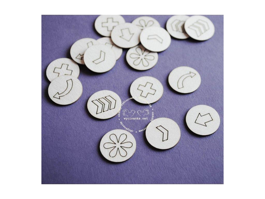 Dekorace Piktogramy v kolečku