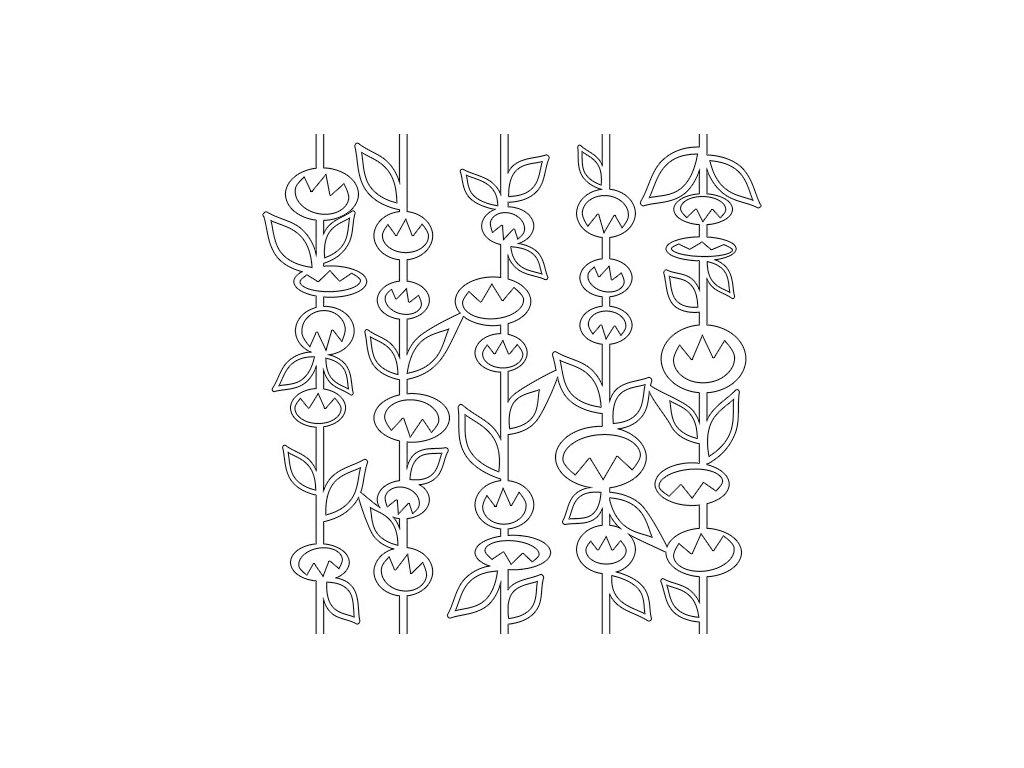 Šablona Flowers