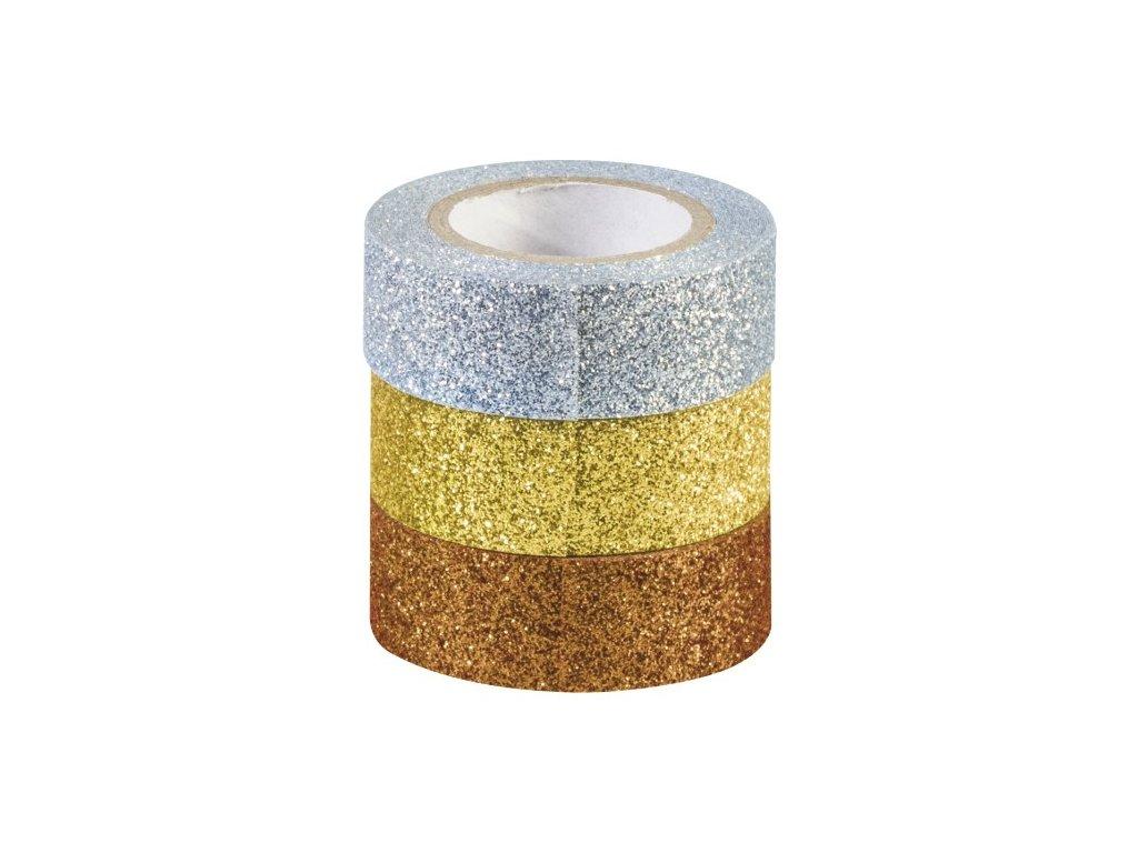 Sada pásek - bronzová, zlatá a stříbrná