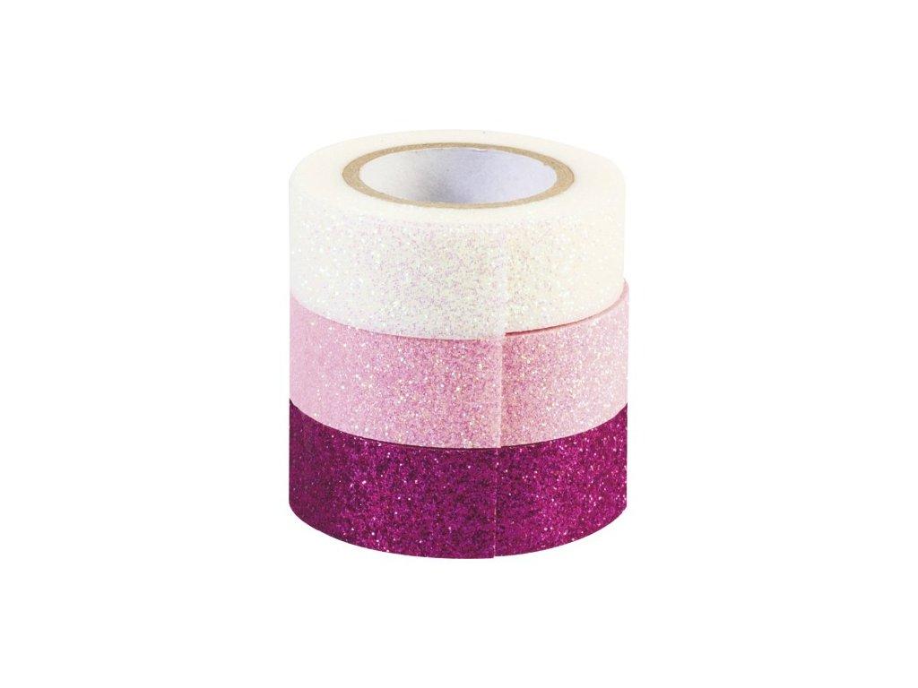 Sada pásek Washi mix růžové