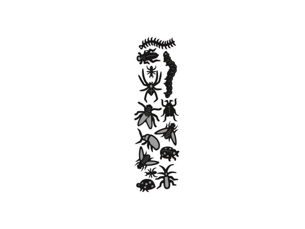 Vyřezávací kovová šablona Hmyz a pavouci