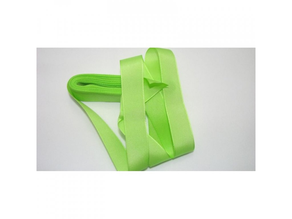 stuha taftová 25 mm zelenožlutá