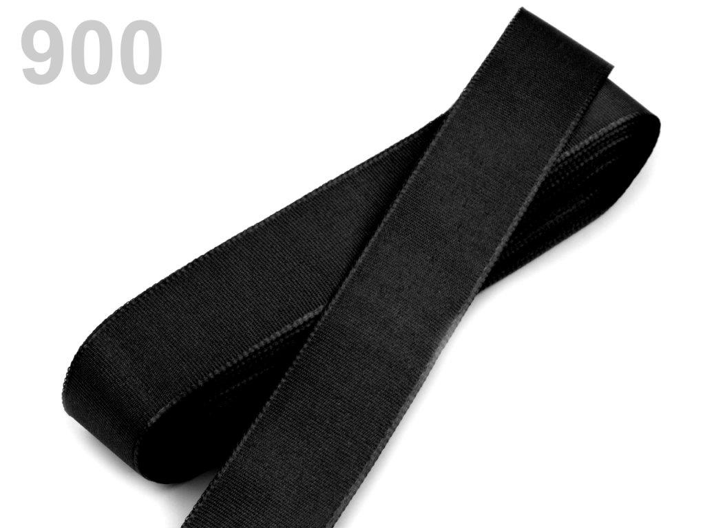 stuha taftová 25 mm černá