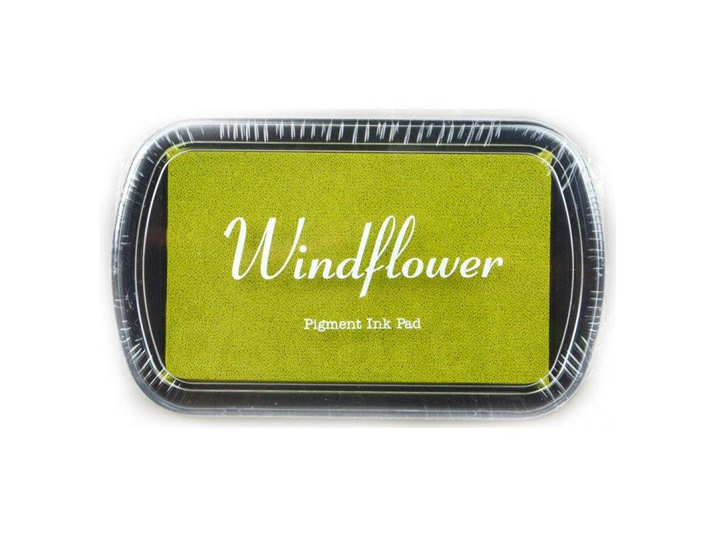 Razítkovací polštářek Windflower Žlutozelený
