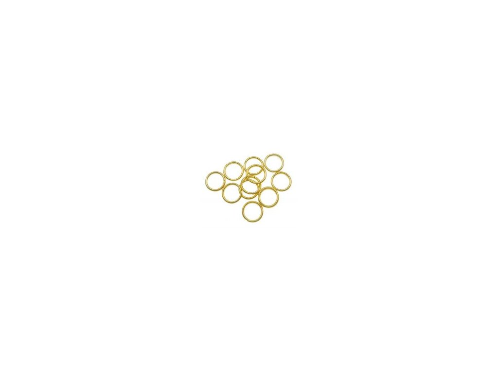 Kroužek pérový 10x1.2mm, pozlaceno