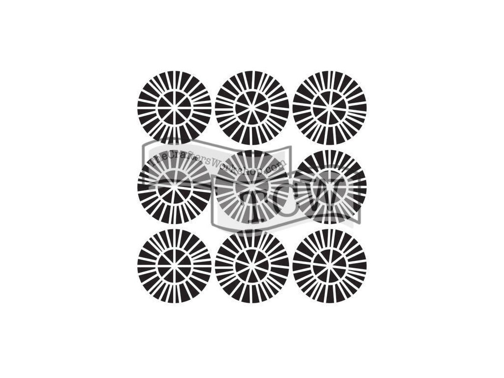 Šablona Spiky wheels mini
