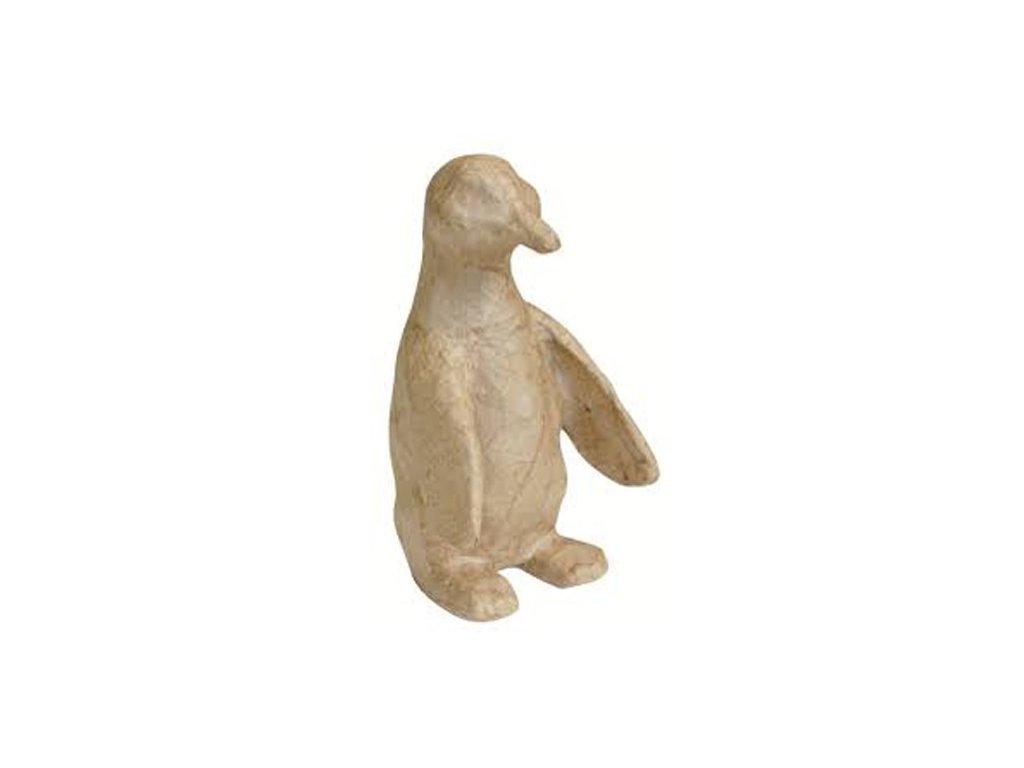 Kartonový předmět tučňák