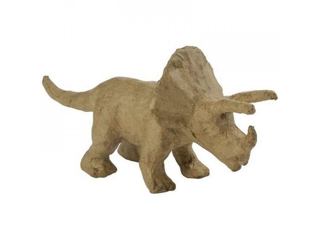 Kartonový předmět triceratops