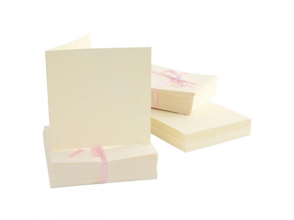 13x13 přání a obálky krémové 100ks