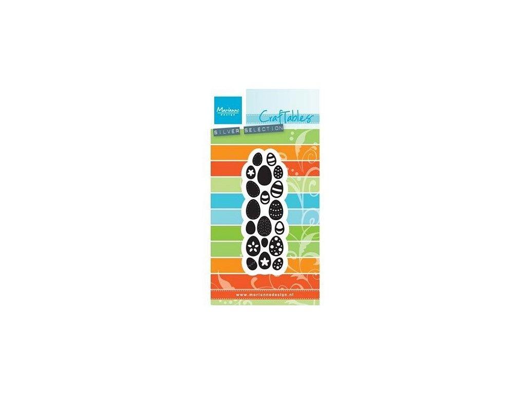Vyřezávací kovová šablona Velikonoční vajíčka