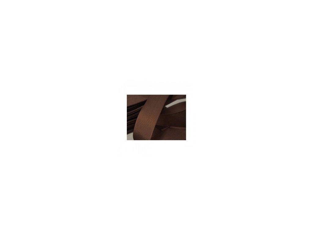 stuha taftová 6 mm čokoládová
