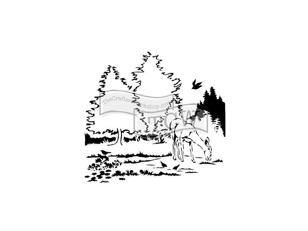 Šablona V lese mini