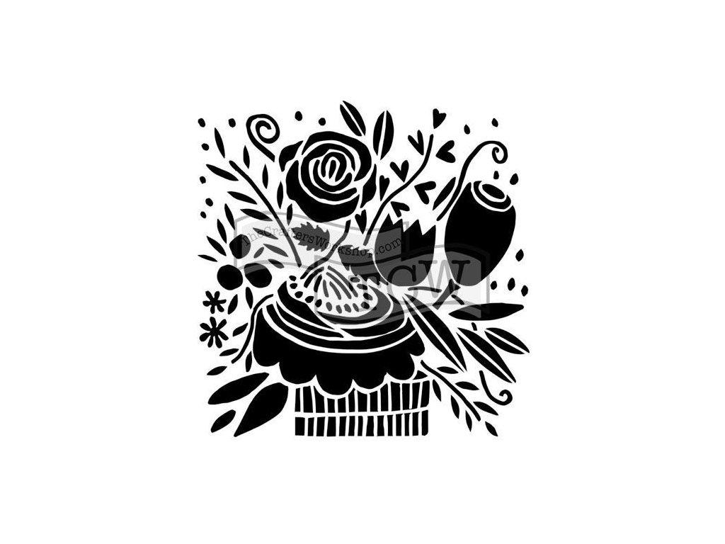 Šablona Narozeninová kytice