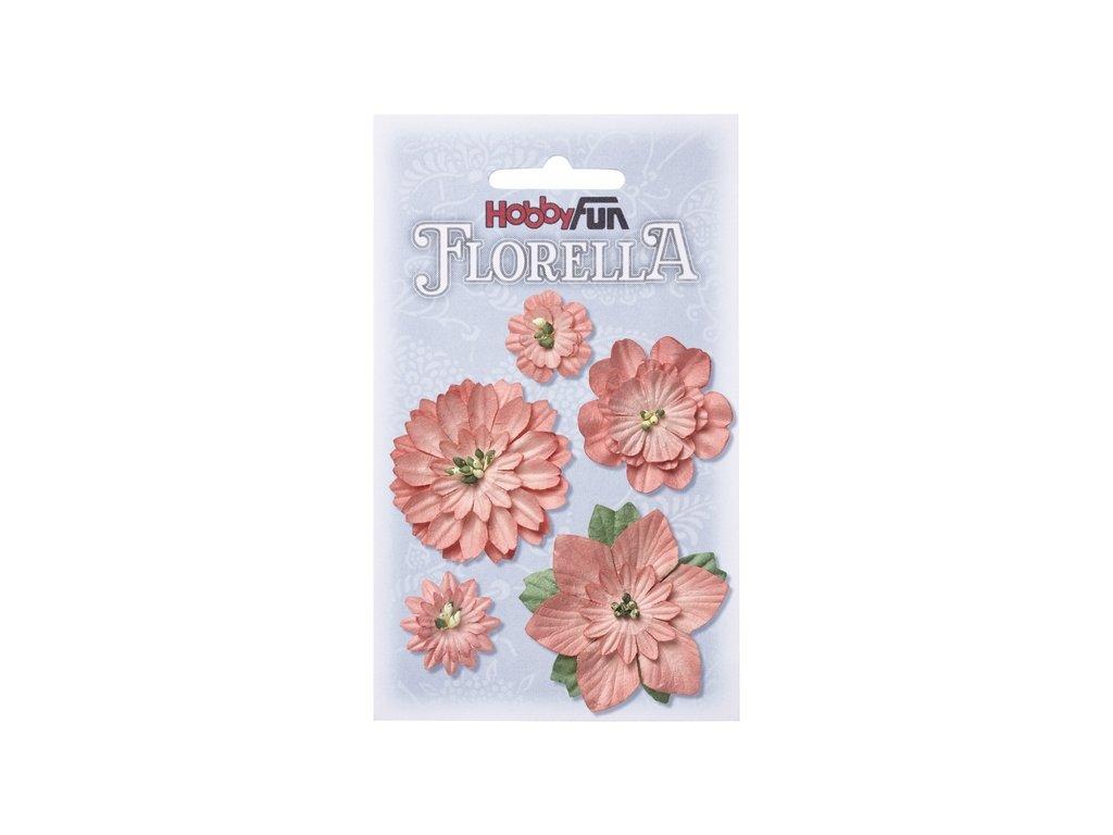 Papírové květy FLORELLA - broskev