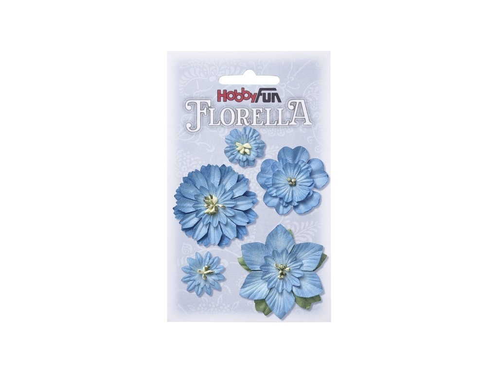 Papírové květy FLORELLA - modrá