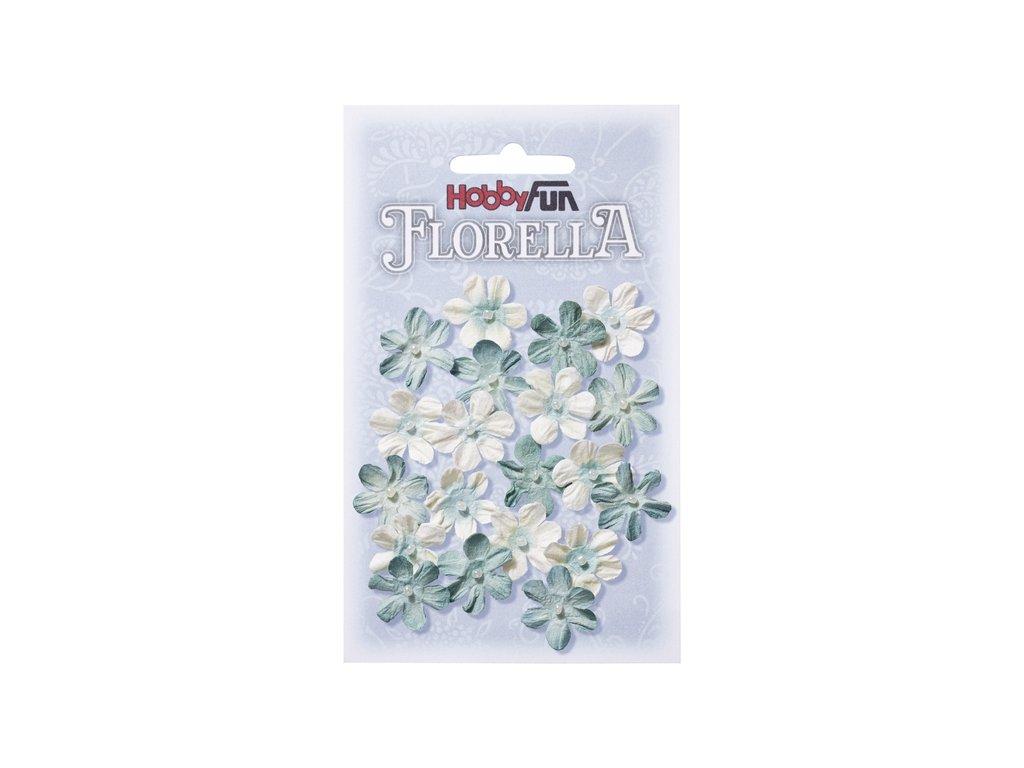Papírové květy FLORELLA světle modré