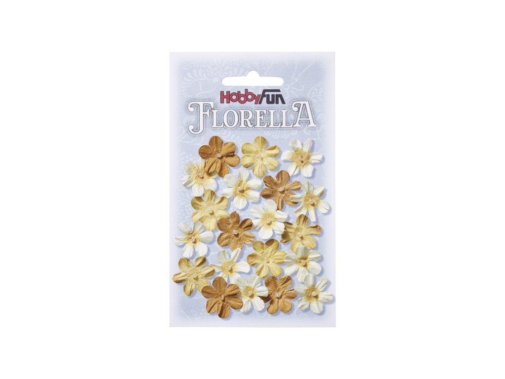 Papírové květy FLORELLA žluté