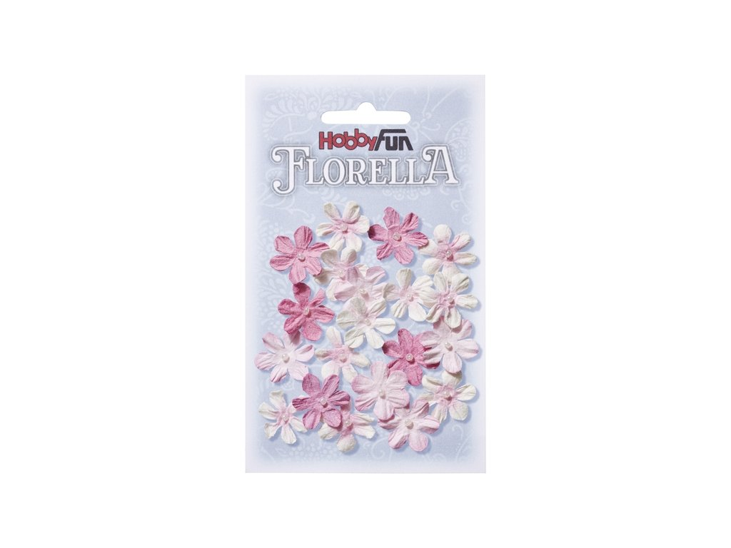 Papírové květy FLORELLA růžové