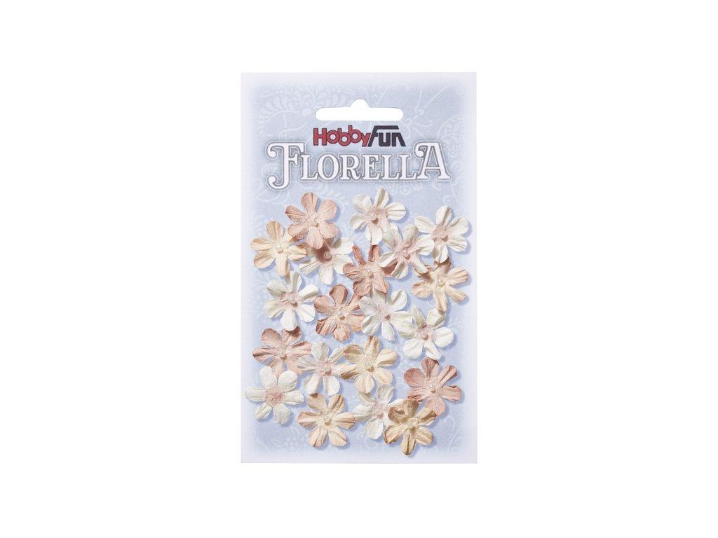 Papírové květy FLORELLA starorůžové