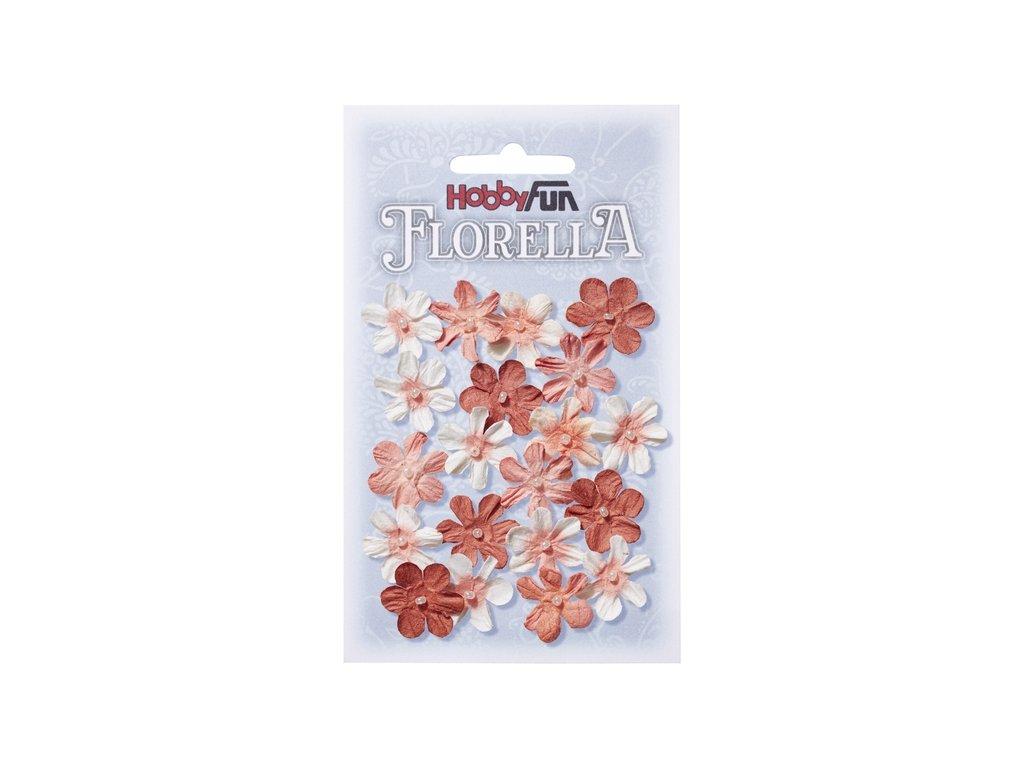 Papírové květy FLORELLA červená