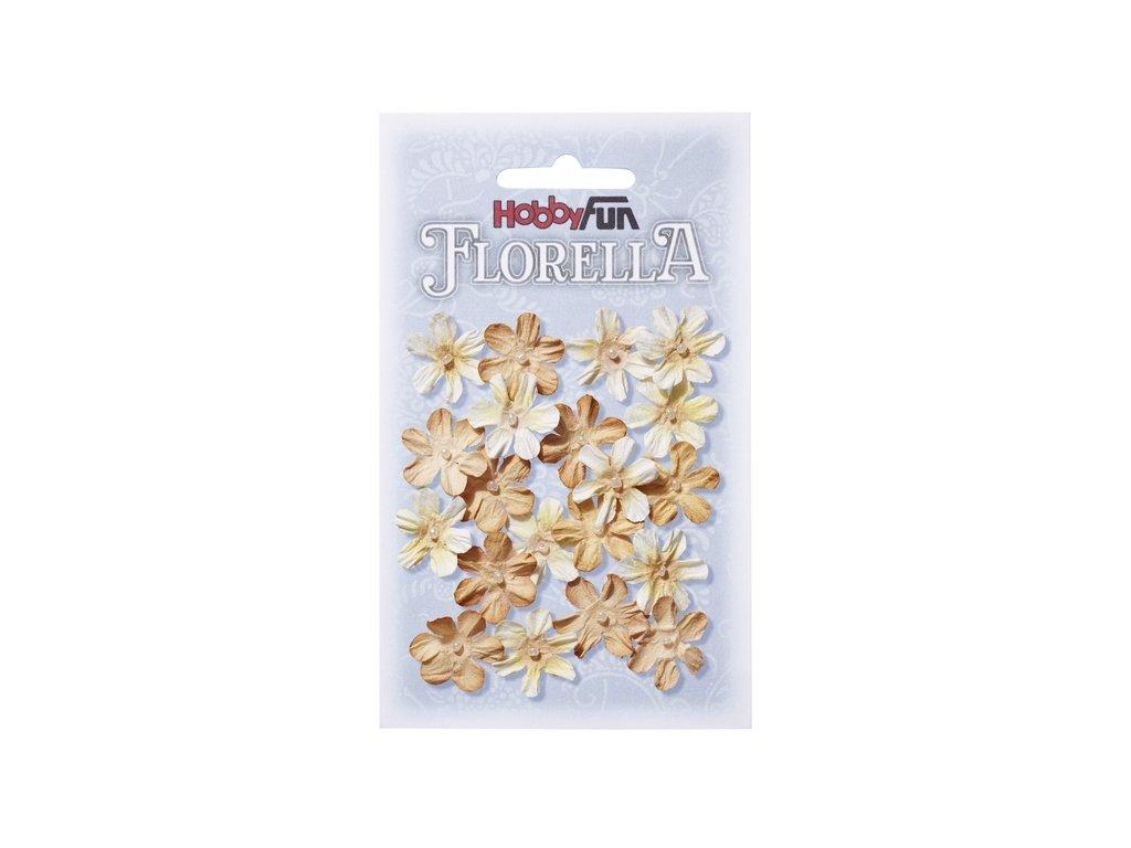 Papírové květy FLORELLA béžová