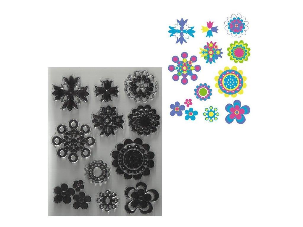 Razítka gelová květiny rozmanité
