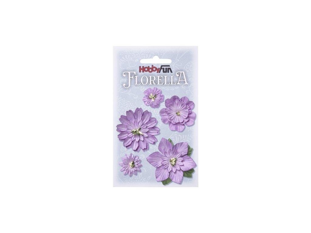 Papírové květy FLORELLA - fialová