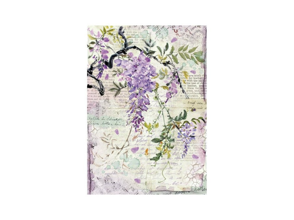 Rýžový papír Fialová květina