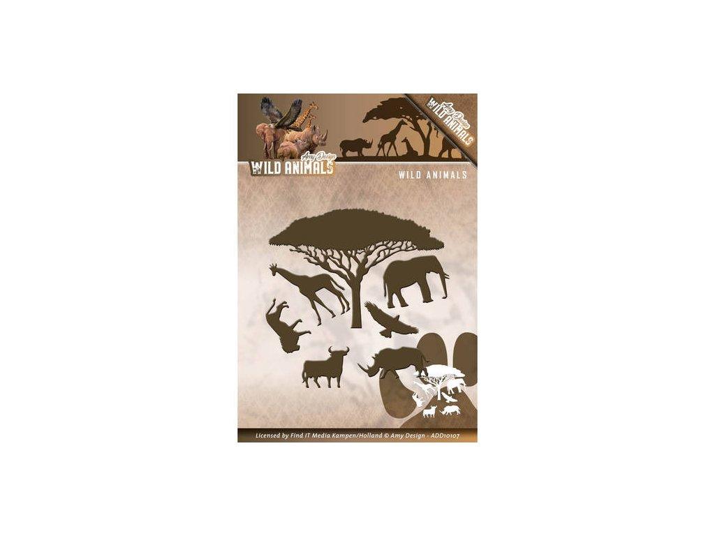 Šablona kovová vyřezávací Safari zvířata