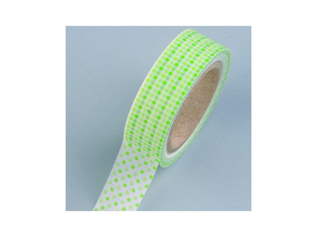 Samolepicí páska tečky zelené