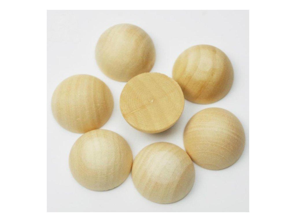 Dřevěné polokoule 15mm