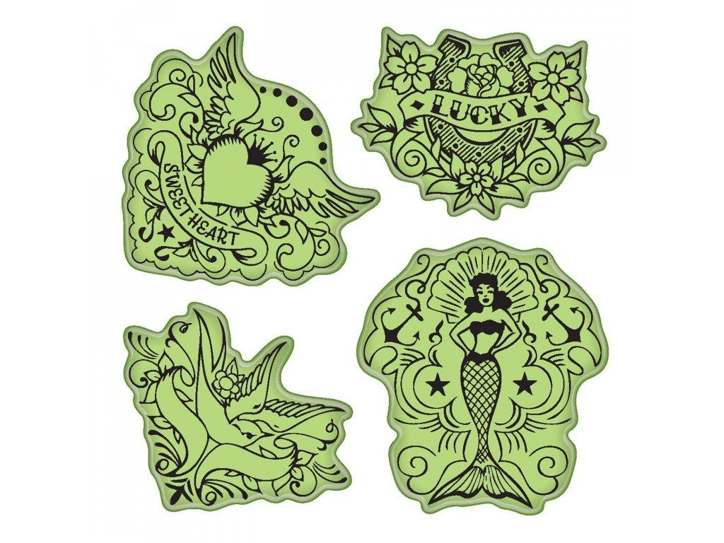 Razítka cling Tetování symboly