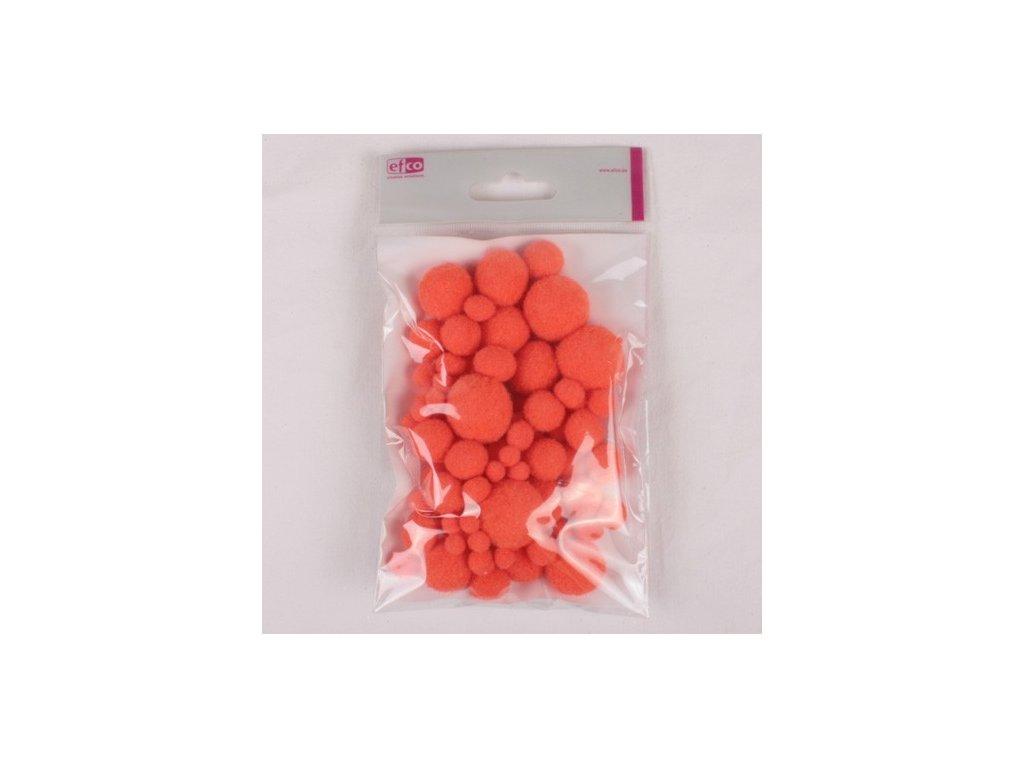 Bambulky oranžové 75ks