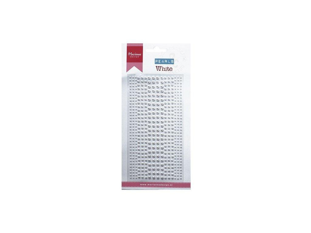 Samolepicí perličky bílé 486ks