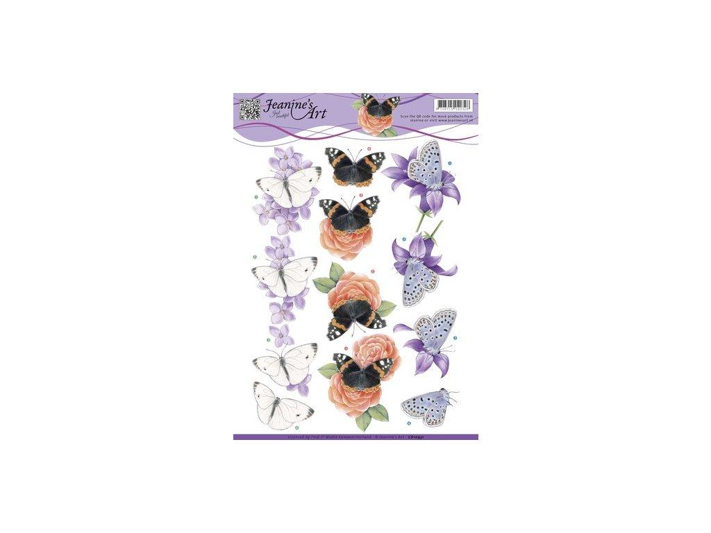 3D Výřezy Motýli